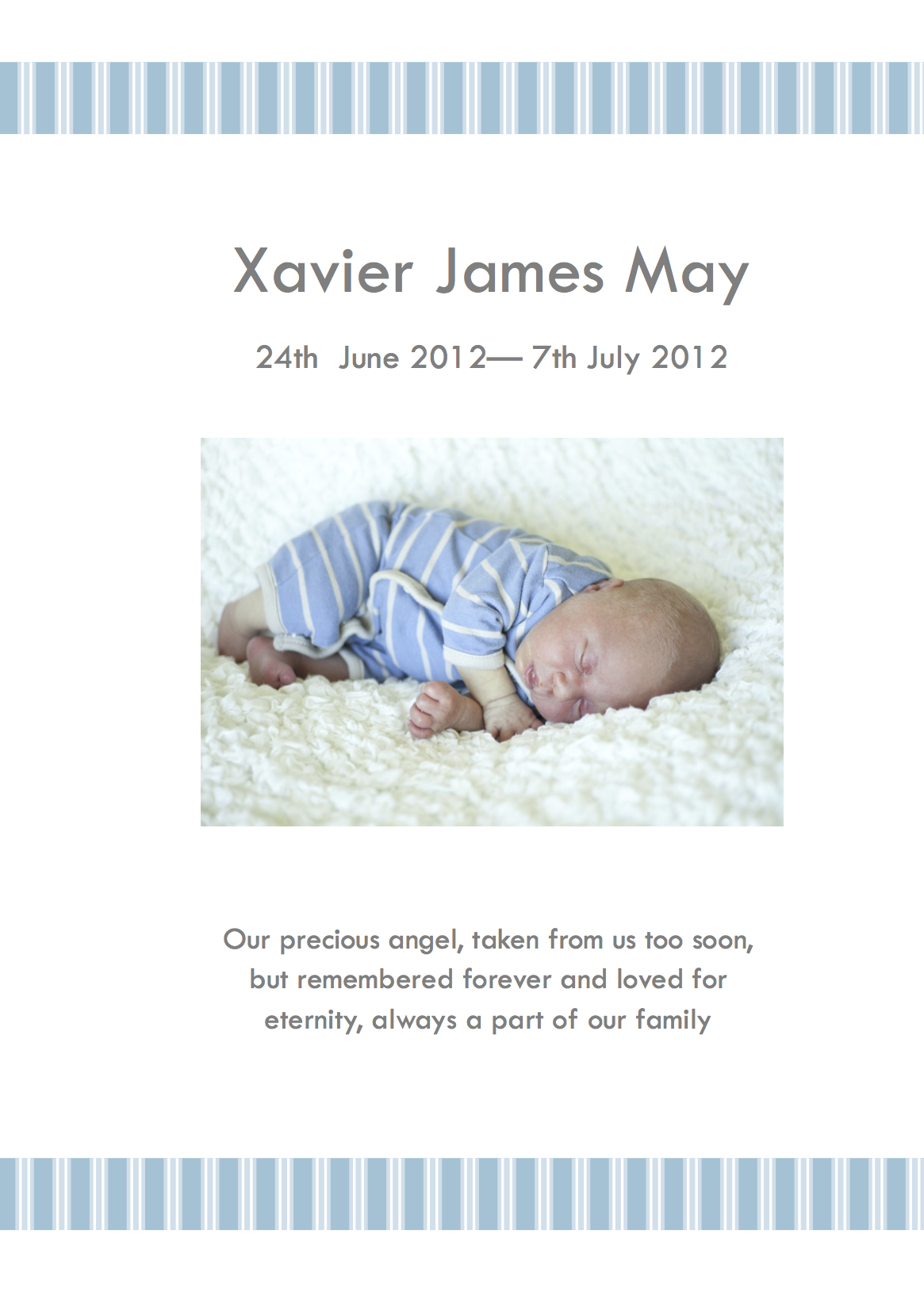 The First Funeral Since Xavier S